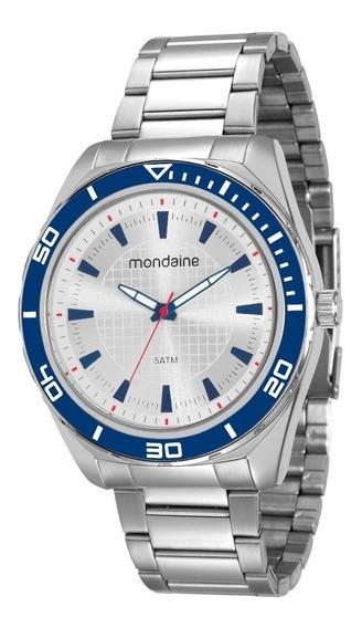Relógio Mondaine Análogo 46mm Pulseira Aço 53521g0mvne1