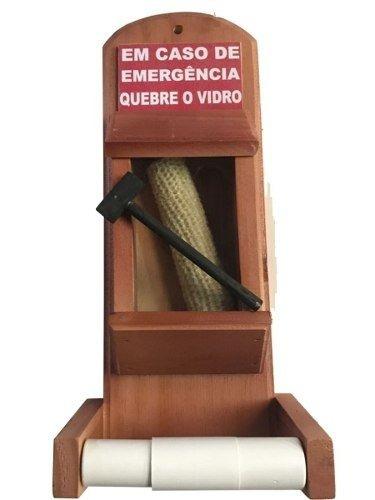 Suporte Porta Papel Higiênico Personalizado Caso Emergência