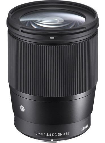Lente Sigma Sony 16mm F1.4 Dc Dn P/ A6500 A6300 A6000...