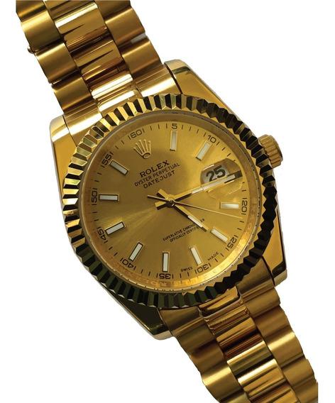 Reloj Rolex Datejust Dorado 37mm Automático Con Caja