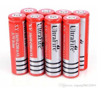 Pila Batería 18650 Ultrafire 4200 Más 3.7 Li-íon Recargables