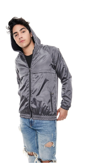 Campera Hombre Bomber Rompe Viento 3025 Gris Outside Tokyo