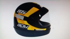 Capacete Gow Interlagos 56 Amarelo/preto