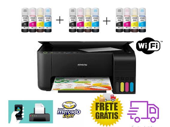 Impressora Multifuncional Epson L3150+12 Tintas+200fls