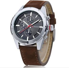 Relógio Curren Original 8154 Cinza Novo Barato Militar