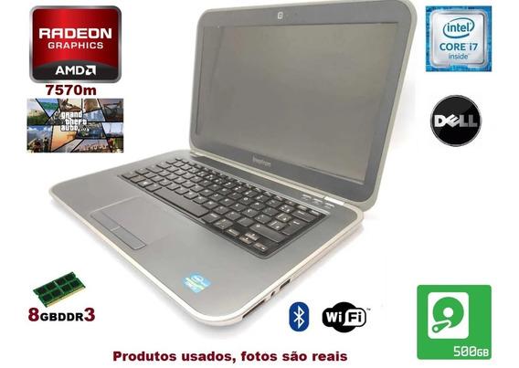 Notebook Dell I7 Gamer 8gb + Hd+vga Radeon 7570m C/ Garantia