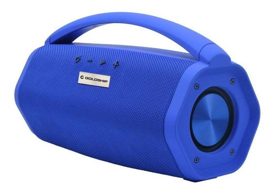 Caixa De Som Aqua Boom Speaker Ipx7 Goldship Azul