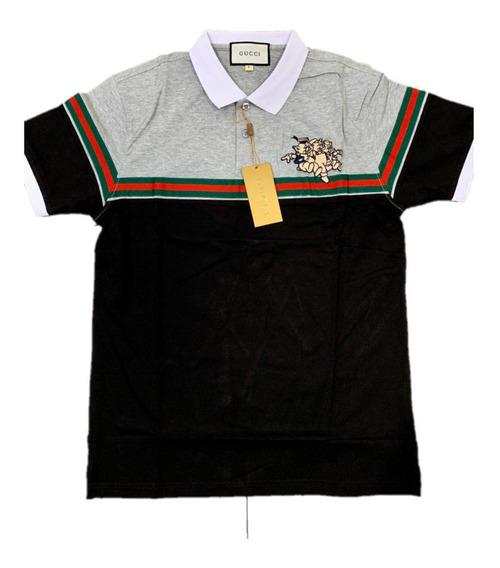 Camisa Polo Gucci 3 Pigs Black Envio Gratis