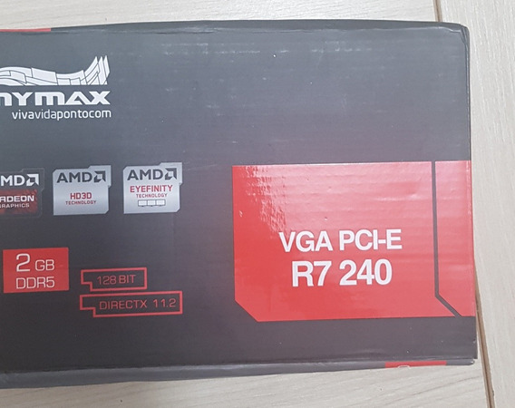 Placa De Video Mymax R7 240 32gb Ddr5