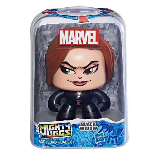 Black Widow 3 Caras Diferentes Mighty Muggs Hasbro Marvel