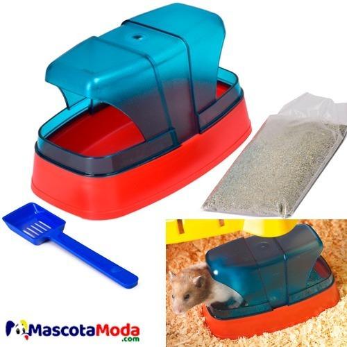 Imagen 1 de 1 de Arenero Baño Premium Para Hamster Incluye Pala Y Arena