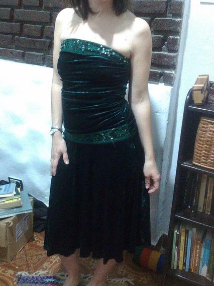 Vestido Straples De Fiesta Invierno