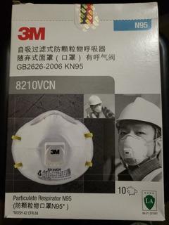 Barbijo Respirador 3m 8210vcn Valvula N95 X 10 Unidades