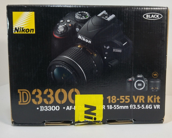 Câmera Nikon D3300 24.1mp C/ Obj 18-55mm