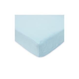 Tl Care Heavenly Sábana Bajera Ajustable Felpa, Azul, 28 X 5