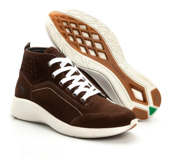Sapato Masculino Cano Médio Couro Jhon Boots Original Boots