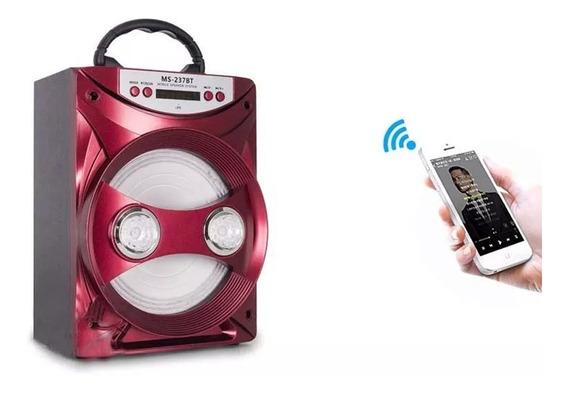 Caixa De Som Bluetooth Portátil Rádio Fm Usb Micro Sd 15w
