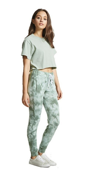 Pants Joggers Mujer Tie-dye Efecto Deslavado Forever 21 L/ G