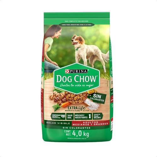 Dog Chow Sin Colorantes Adultos Medianos Y Grandes 2 Kg