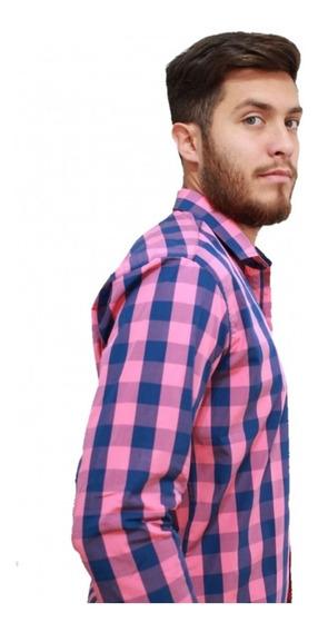 Camisas Entalladas Escocesa Hombre - Colores - Envios.