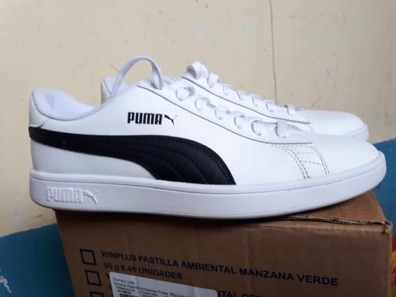 Zapatos Puma Blancos Nuevos Smash V2 Talla 43