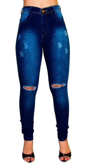 Kit Atacado 2 Calças Jeans Cintura Alta Feminina Hot Pants