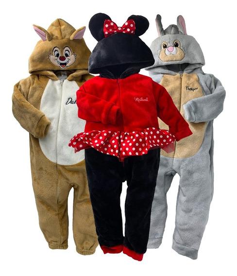 Kit 3 Mamelucos Disney Dale, Minnie, Tambor, A Precio De 2