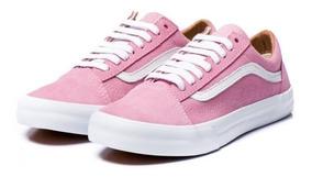 Tenis Vans Feminino Rosa Suede Original Old Skool Custom