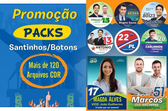 Pack Santinhos/botons Política Editável - Artes Prontas!
