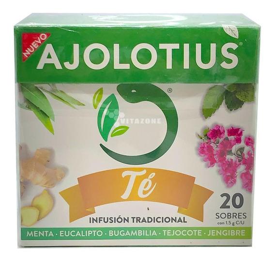 Ajolotius Té 20 Sobres Menta Jengibre Eucalipto
