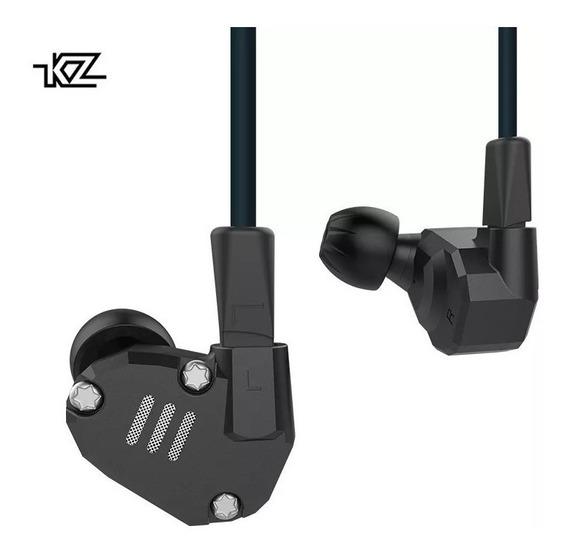 Fone De Ouvido Kz Zs6 Hifi Monitor Retorno Palco