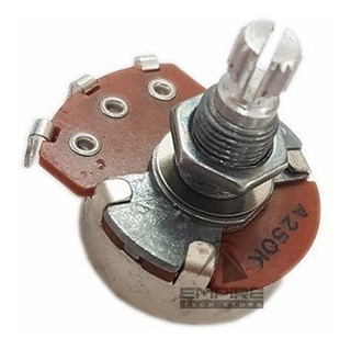 Potenciômetro Vl2418h Log Logarítmico A250k Guitarra Spirit