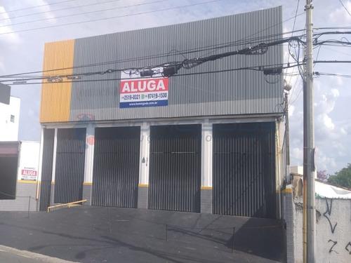 Imobiliária Em Campinas Homegods, Barracão Comercial Para Locação Em Jardim São Vicente, Com 450 Metros De Terreno E 600 Metros De Construção - Ba00121 - 67725114