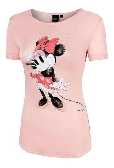 Playera Dama Minnie Mouse Lpz Ddabl1210 Rosa 096-486 T5
