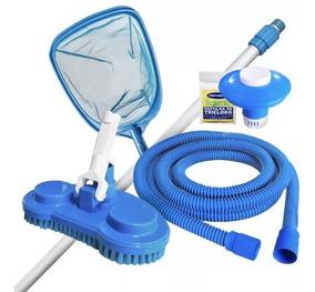 Kit Limpeza Tratamento Piscina Desmontável Best Way Intex