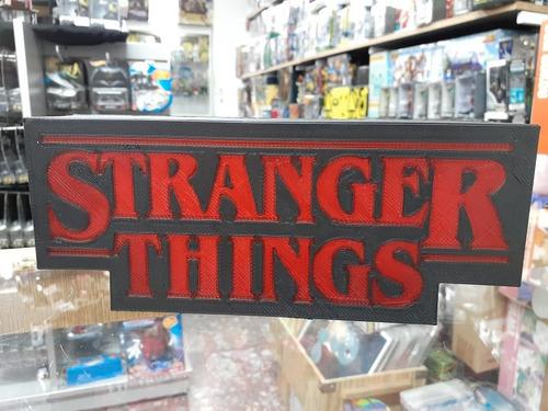 Imagen 1 de 2 de Letrero Stranger Things Sign Impresión 3d Con Luz