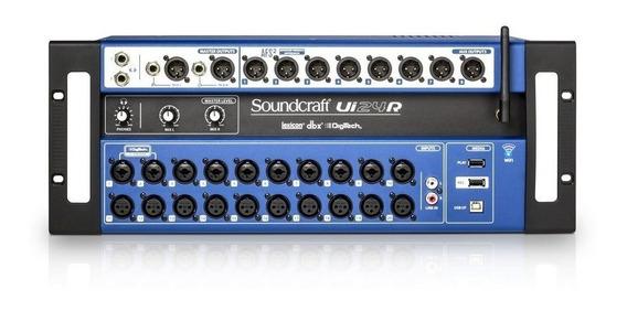 Mesa De Som Digital Ui24r Soundcraft Ui24 Com Nota Fiscal.