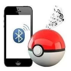Caixa Caixinha D Som Bluetooth / Usb / Tf / Pokemon Pokebola