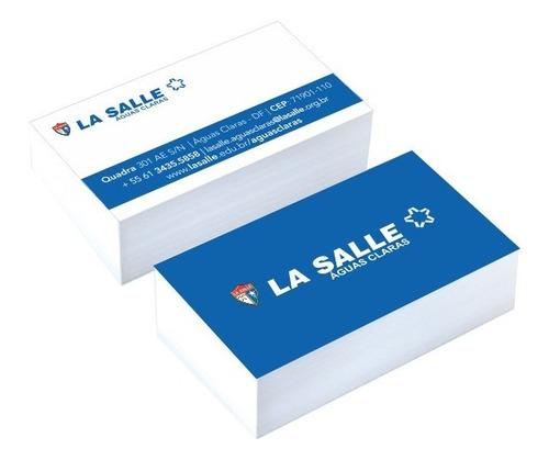 3000 Cartão De Visita 4x4 Papel Couche Brilho 250gr