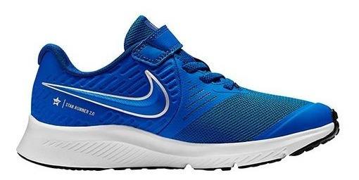 Tenis Nike Star Runner 2 (psv) Azul Tallas De #17 A #22 Niño