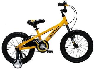Bicicleta Royal Baby Bulldozer Rod 16 Amarilla