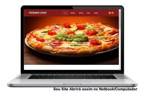 Site Para Pizzaria + Dominio E Hospedagem 1° Mês