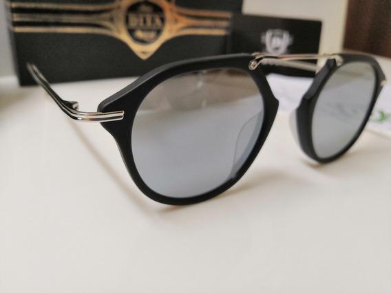Óculos De Sol Dita Kohn Cromado E Lentes Espelhadas
