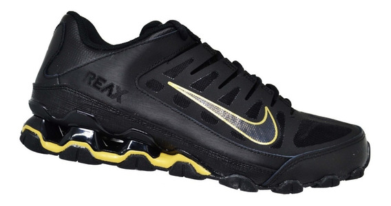 Tênis Masculino Nike Reax 8 Tr Mesh - Preto/dourado
