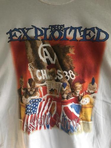 Imagen 1 de 3 de Exploited - War Now - Hardcore Punk - Polera- Cyco Records