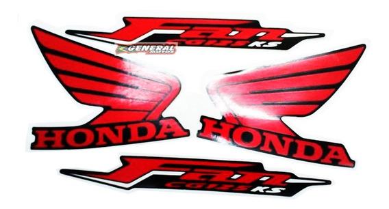 Kit Adesivo Jogo Faixas Moto Honda Fan 125 2011 Ks Preta