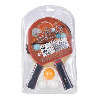Kit Raquete Ping Pong 5 Peças Art Sport