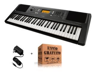 Teclado Yamaha Psr E363 Organo Sensitivo + Fuente + Envio 61 Teclas Polifonía 48 Ritmos 574 Efectos Parlantes 2x2,5,w