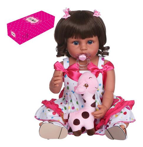 Imagen 1 de 7 de Decdeal - Muñeca De Silicona Para Bebé (55 Cm, Cuerpo Comple