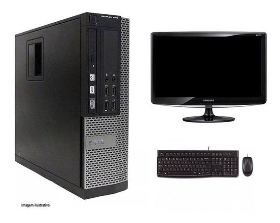 Computador Desktop Dell 7010 I3 8gb 240ssd Monitor 18